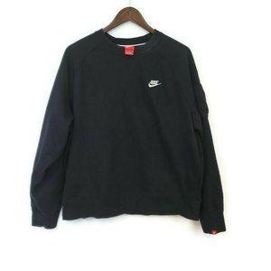Nike Mens Athletic Black Fleece Crew Sweatshirt